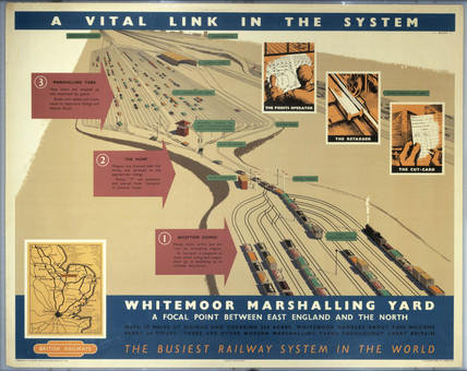 'A Vital Link in the System', BR poster, c 1950s.