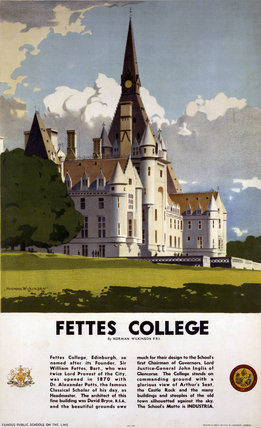 'Fettes College', LMS poster, 1923-1947.