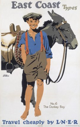 'East Coast Types - No 6, The Donkey Boy', LNER poster, 1923-1947.