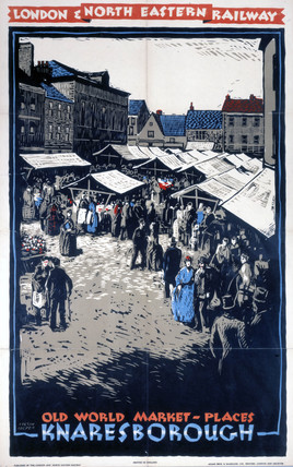 'Old World Market-Places - Knaresborough', LNER poster, c 1930s.