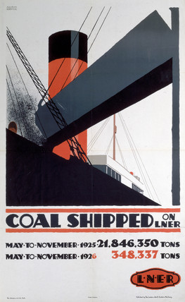 'Coal shipped on LNER', LNER poster, 1926.