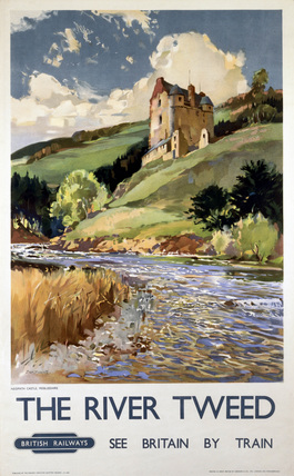 'The River Tweed', BR (ScR) poster, 1948-1965.