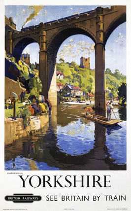'Knaresborough, Yorkshire', BR poster, 1954.