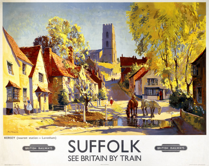 'Suffolk', BR poster, c 1950s.