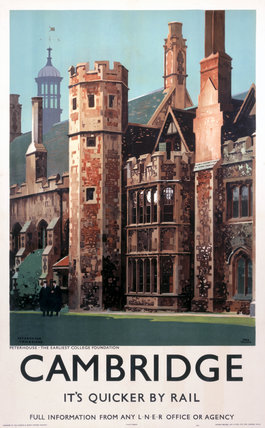 Cambridge, LNER poster, 1939.
