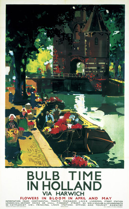 'Bulb Time in Holland', LNER poster, c 1935.