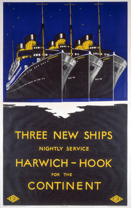 'Harwich - Hook for the Continent', LNER poster, 1923-1947.