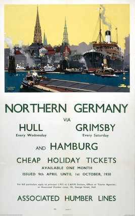 Northern Germany, LNER poster, 1930s.
