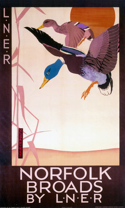 'Norfolk Broads by LNER', LNER poster, 1923-1947.