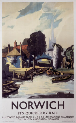 'Norwich', LNER poster, 1940.