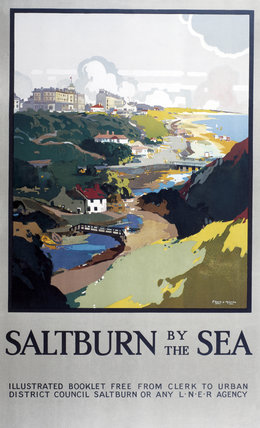 'Saltburn-by-the-Sea', LNER poster, 1923-1947.