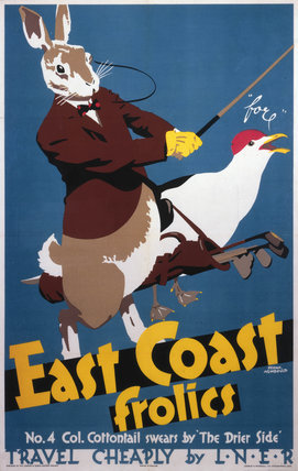 'East Coast Frolics, No 4', LNER poster, 1933.
