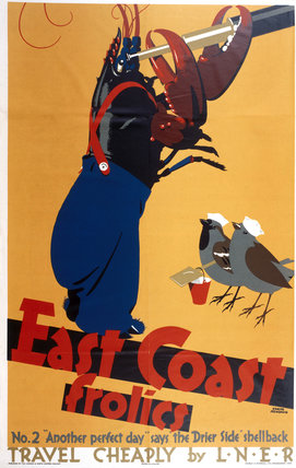 'East Coast Frolics, No 2', LNER poster, 1933.
