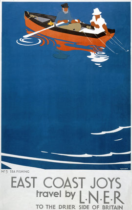 'East Coast Joys - No 5', LNER poster, 1931.