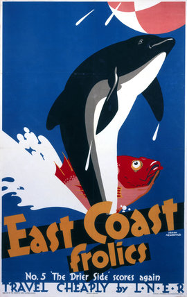 'East Coast Frolics, No 5', LNER poster, 1933.