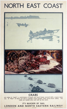 'North East Coast - Crabs', LNER poster, 1933.