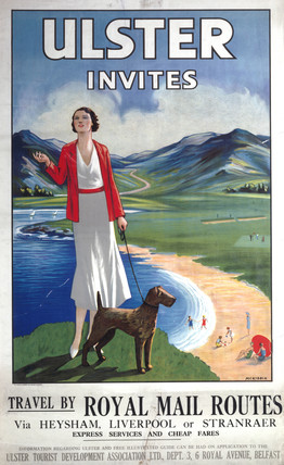 Ulster Tourist Development Asociation poster, c 1930.