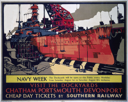 'Navy Week', SR poster, 1930.