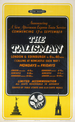 'Announcing a New Afternoon Expres Train Service', poster, c 1950s.