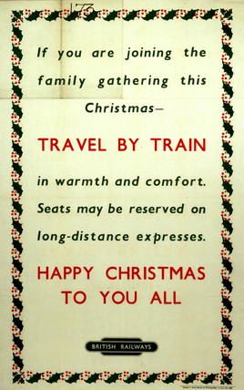 'Happy Christmas To You All', BR poster, c 1950s.