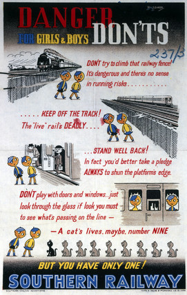 'Danger - Don'ts for Girls & Boys', SR poster, 1940-1949.