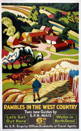 'Rambles in the West Country', SR poster, 1938.