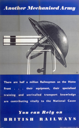 'Another Mechanised Army', British Railways poster, 1939-1945.