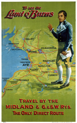 'To see the land o'Burns', MR/GSWR poster, 1870-1913.