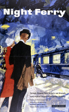 'Night Ferry', BR poster, 1959.