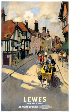 'Lewes', BR poster, 1955.