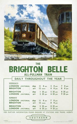 'The Brighton Belle', BR poster, 1958.