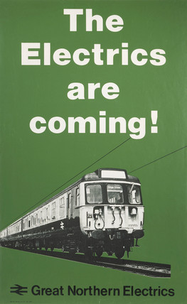 'The Electrics are Coming!', BR poster, 1977.