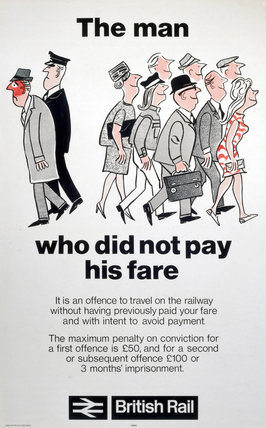'The man who did not pay his fare', BR (E) poster, 1974.