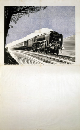 'The Bournemouth Belle', BR (SR) poster, 1948-1965.