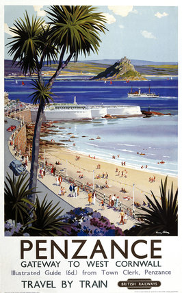 'Penzance', BR poster, 1952.