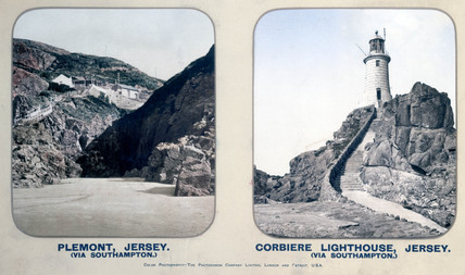 Plemont, and Corbiere Lighthouse, Jersey, 1910s.