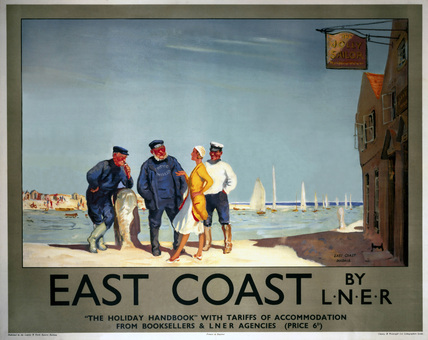 'East Coast by LNER', LNER poster, 1923-1947.