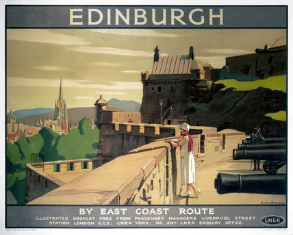 'Edinburgh by the East Coast Route', LNER poster, 1923-1947.