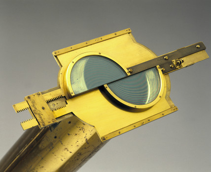 Split-lens micrometer attached to a Gregorian reflecting telescope, 1763-65.