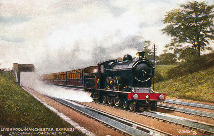 The Liverpool to Manchester Expres on Walkden Torughs, 1900.