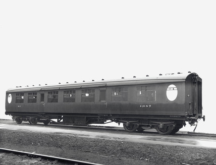 Third Clas railway carriage, Doncaster Works, South Yorkshire, 24 May 1945.