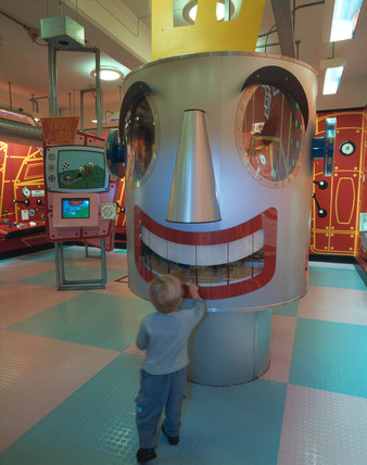 'Mechanical Head' interactive exhibit, Science Museum, London, 2000.