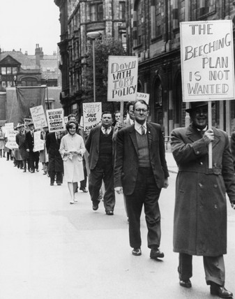 Protest march, Manchester, 13 October 1963.