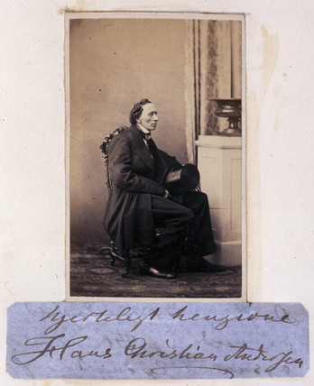 Hans Christian Andersen, Danish writer, c 1865.