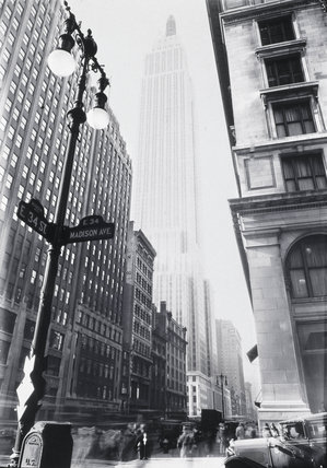 Empire State Building from Madison Avenue', New York, 1932.