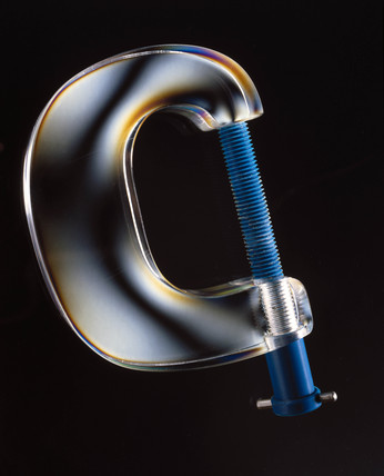 A G-clamp under stres, c 1980s.