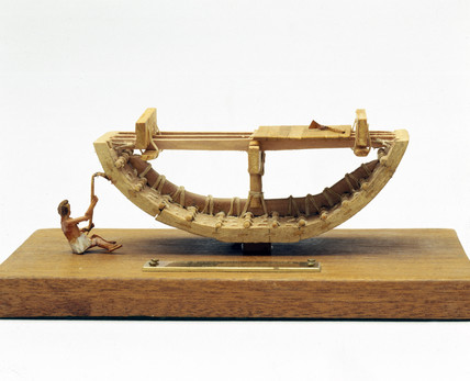 Royal ship of Cheops, cros section, c 2500 BC.