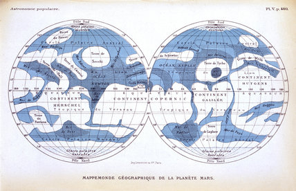 The planet Mars, 1880.