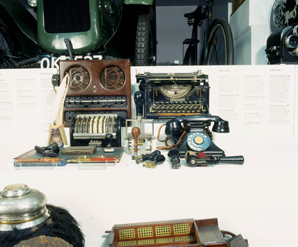 'Technology in Everyday Life' display case