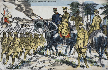 General French at the Battle of Charleroi, Belgium, 1914 (c 1914-1918).